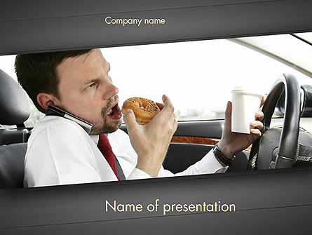Distracted Driving PowerPoint Template, 11674, Cars and Transportation — PoweredTemplate.com
