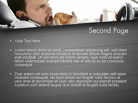 Distracted Driving PowerPoint Template, Slide 2, 11674, Cars and Transportation — PoweredTemplate.com