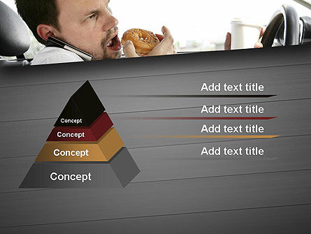 Distracted Driving PowerPoint Template, Slide 4, 11674, Cars and Transportation — PoweredTemplate.com