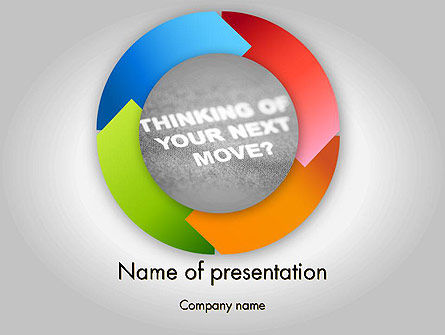 Business Concepts: Thinking of Your Next Move PowerPoint Template #11679