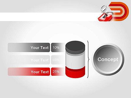 Red Lock PowerPoint Template Slide 11