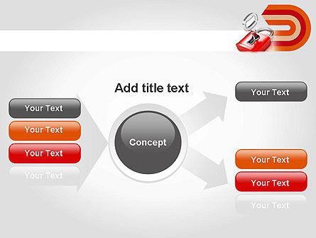 Red Lock PowerPoint Template Slide 14