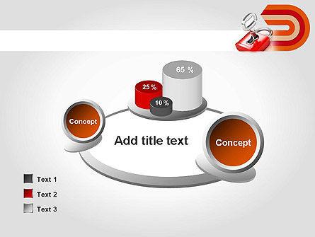 Red Lock PowerPoint Template Slide 16