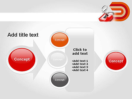 Red Lock PowerPoint Template Slide 17
