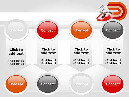 Red Lock PowerPoint Template Slide 18