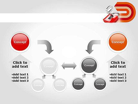 Red Lock PowerPoint Template Slide 19