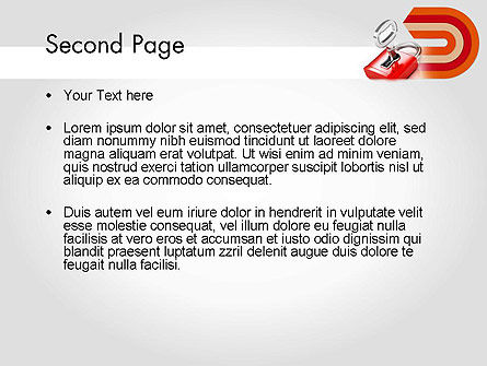 Red Lock PowerPoint Template Slide 2
