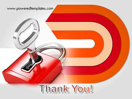 Red Lock PowerPoint Template Slide 20