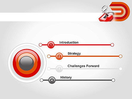 Red Lock PowerPoint Template Slide 3