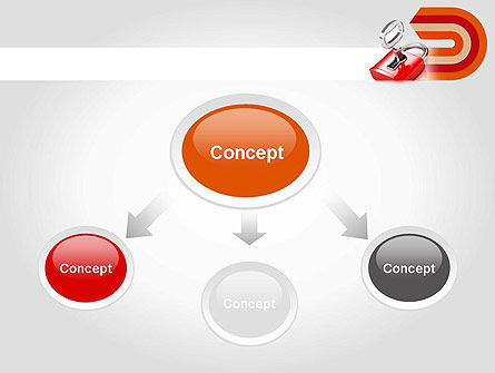 Red Lock PowerPoint Template Slide 4