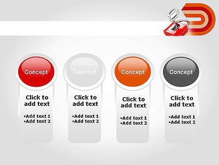 Red Lock PowerPoint Template Slide 5