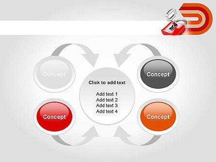 Red Lock PowerPoint Template Slide 6