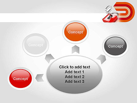 Red Lock PowerPoint Template Slide 7