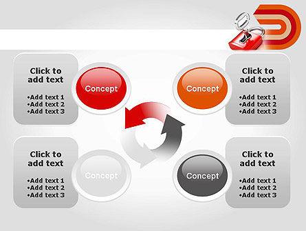 Red Lock PowerPoint Template Slide 9
