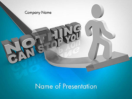 Nothing Can Stop You PowerPoint Template, 11684, Business Concepts — PoweredTemplate.com