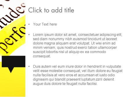 Performance Definition PowerPoint Template, Slide 3, 11685, Business Concepts — PoweredTemplate.com