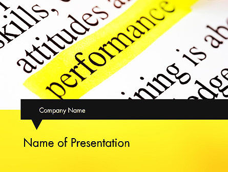 Performance Definition PowerPoint Template, 11685, Business Concepts — PoweredTemplate.com