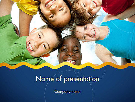 Positive Children PowerPoint Template