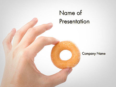 Food & Beverage: Mini Doughnut PowerPoint Template #11688