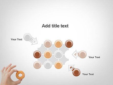 Mini Doughnut PowerPoint Template Slide 10