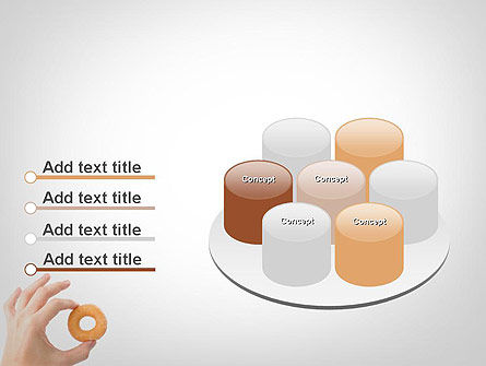 Mini Doughnut PowerPoint Template Slide 12