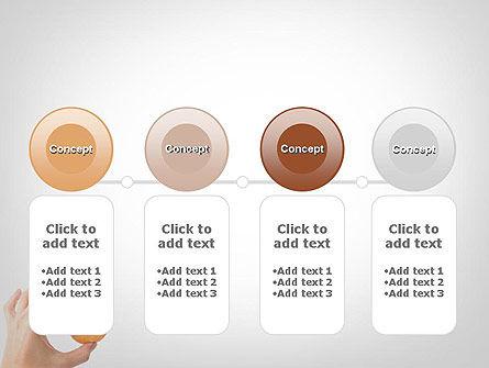 Mini Doughnut PowerPoint Template Slide 5