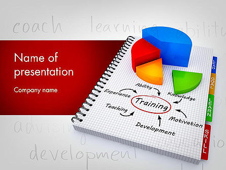 Training Plan with Pie Chart PowerPoint Template, 11689, Education & Training — PoweredTemplate.com