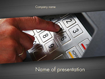 ATM Keypad PowerPoint Template, 11690, Technology and Science — PoweredTemplate.com