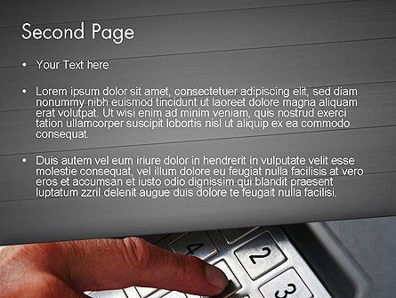 ATM Keypad PowerPoint Template, Slide 2, 11690, Technology and Science — PoweredTemplate.com