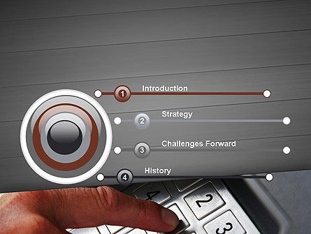 ATM Keypad PowerPoint Template, Slide 3, 11690, Technology and Science — PoweredTemplate.com