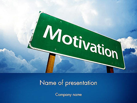 Motivation Sign PowerPoint Template