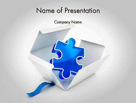 Consulting: Puzzle Piece in a Box PowerPoint Template #11694