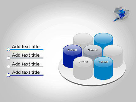 Puzzle Piece in a Box PowerPoint Template Slide 12