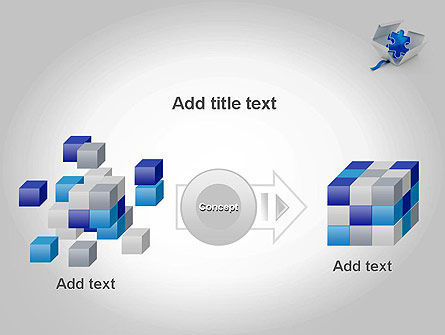 Puzzle Piece in a Box PowerPoint Template Slide 17