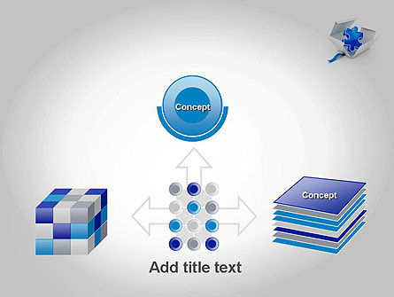 Puzzle Piece in a Box PowerPoint Template Slide 19
