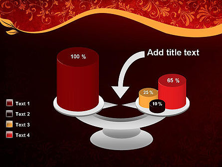 Red and Gold Floral Pattern PowerPoint Template Slide 10