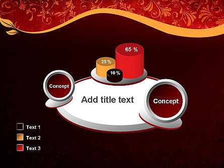 Red and Gold Floral Pattern PowerPoint Template Slide 16