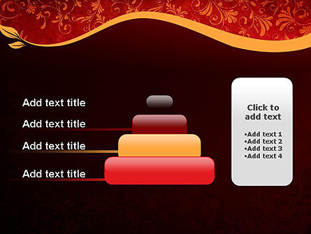 Red and Gold Floral Pattern PowerPoint Template Slide 8