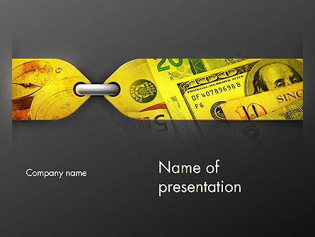 Tied Finances PowerPoint Template, 11698, Financial/Accounting — PoweredTemplate.com