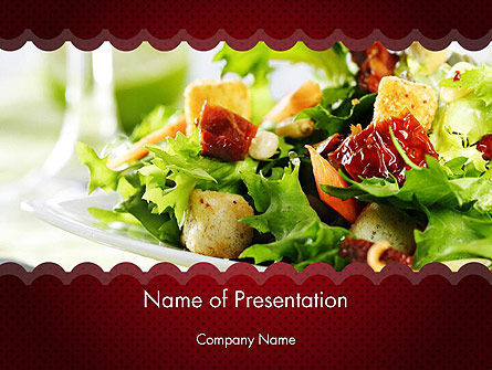 Food & Beverage: Fresh Salad PowerPoint Template #11699