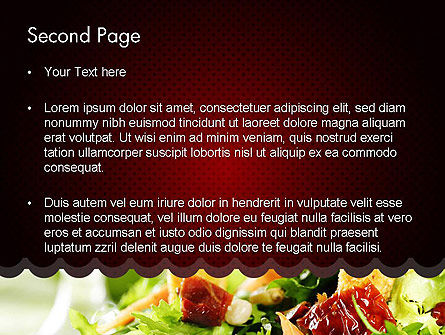 Fresh Salad PowerPoint Template Slide 2