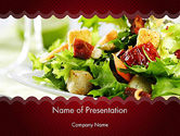 Food & Beverage: Modello PowerPoint - Insalata fresca #11699