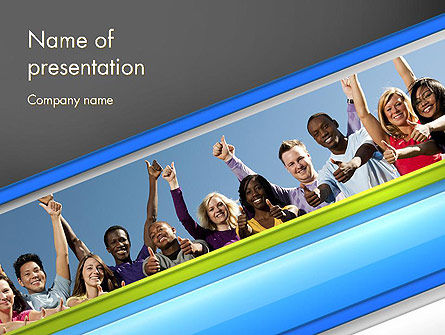 Positive Youth PowerPoint Template