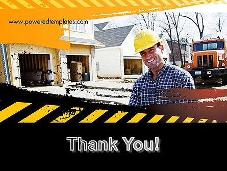 Smiling Builder PowerPoint Template Slide 20