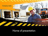 Careers/Industry: Smiling Builder PowerPoint Template #11701