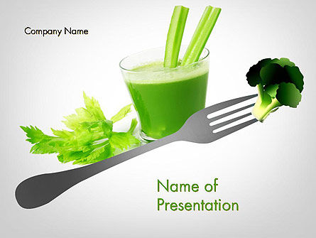 Green Nutrition Drink PowerPoint Template