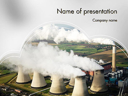 Utilities/Industrial: Generating Plant PowerPoint Template #11703