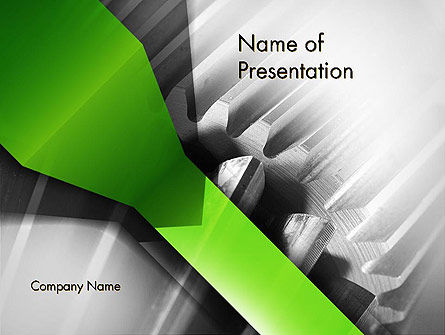 Utilities/Industrial: Cogwheels Theme PowerPoint Template #11704