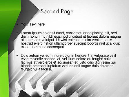 Cogwheels Theme PowerPoint Template, Slide 2, 11704, Utilities/Industrial — PoweredTemplate.com
