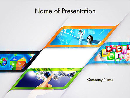 Technology and Science: Mobile Apps Theme PowerPoint Template #11707